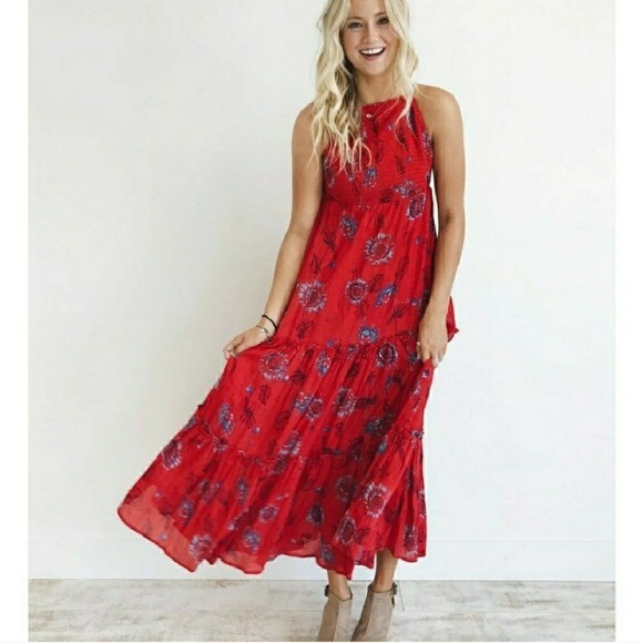 9008ce7992 New Free People Garden Party Maxi Dress